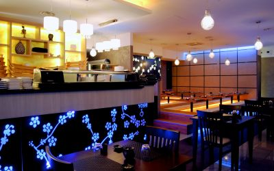 Zona bar e sala